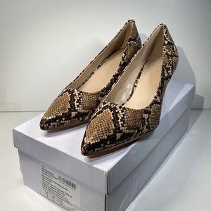 Amazon Brand. Find. Brown/Snakeskin Low Heel NIB!